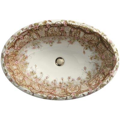 Briar Rose Ceramic Oval Drop-In Bathroom Sink