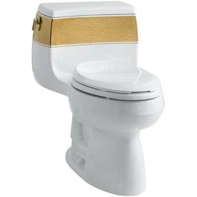 Kohler Laureate Design On Gabrielle Comfort Height One-Piece Elongated 1.28 GPF Toilet with Class Five Flush Technology and Left-Hand Trip Lever