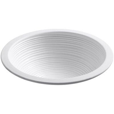 Twirl Ceramic Circular Undermount Bathroom Sink Sink Finish: White