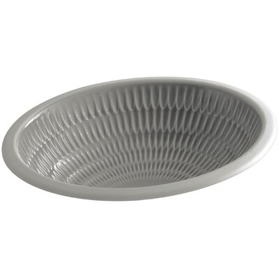 Ricochet Ceramic Oval Undermount Bathroom Sink Sink Finish: Translucent Cashmere
