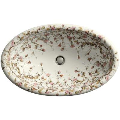 Kohler Briar Rose Design On Vintage Drop-In Bathroom Sink