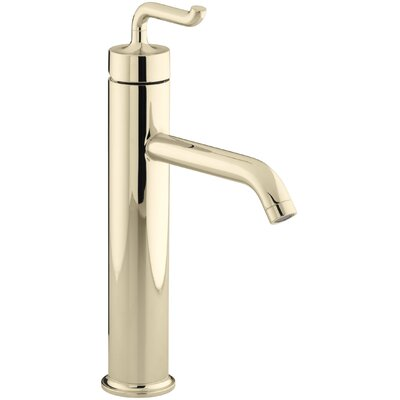 Kohler Purist Tall Single-Hole Bathroom Sink Faucet with Smile Design Handle