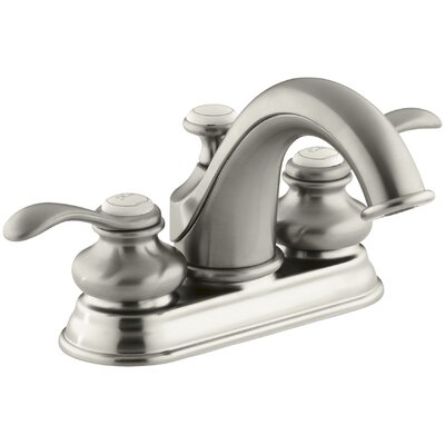 Fairfax Centerset Bathroom Faucet with Drain Assembly Finish: Vibrant Brushed Nickel
