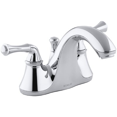 Forte Centerset Bathroom Faucet with Drain Assembly Finish: Polished Chrome