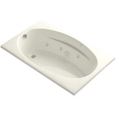 "Proflex 60"" x 36"" Whirlpool Bathtub Finish: Biscuit"