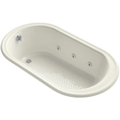 "Iron Works 66"" x 36"" Whirlpool Bathtub Finish: Biscuit"