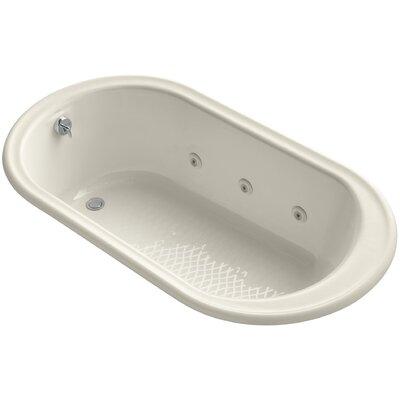 "Iron Works 66"" x 36"" Whirlpool Bathtub Finish: Almond"