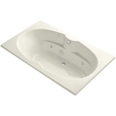 """72"""" x 42"""" Drop-In Whirlpool with Custom Pump Location and Heater Finish: Biscuit"""
