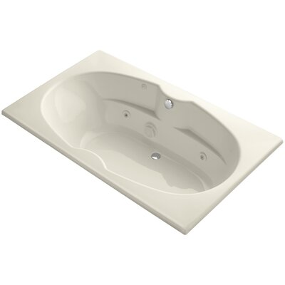 """72"""" x 42"""" Drop-In Whirlpool with Custom Pump Location and Heater Finish: Almond"""