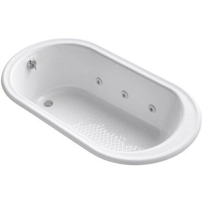 "Iron Works 66"" x 36"" Whirlpool Bathtub Finish: White"