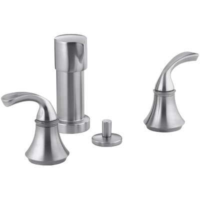 Kohler Forté Vertical Spray Bidet Faucet with Sculpted Lever Handles