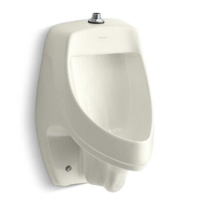 Dexter Siphon-Jet Wall-Mount 1/2 GPF Urinal with Top Spud Finish: Biscuit