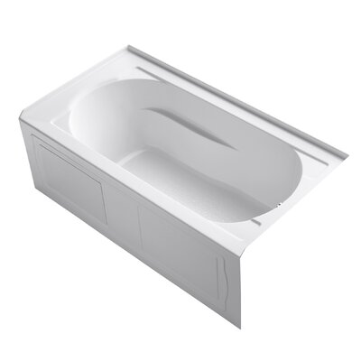 "Devonshire Alcove 60"" x 32"" Soaking Bathtub Finish: White"