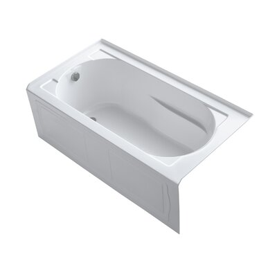 "Devonshire tub 60"" x 32"" Soaking Bathtub Finish: White"
