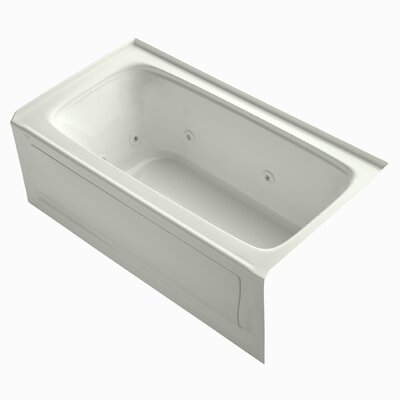 "Bancroft 60"" x 32"" Whirlpool Bathtub Finish: White"