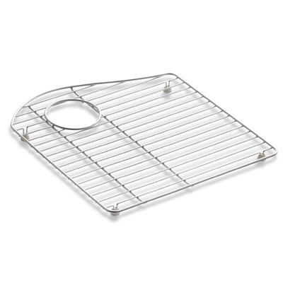 """Kohler Lawnfield Stainless Steel Sink Rack, 15-13/32"""" x 16-1/2"""", for Left-Hand Bowl"""