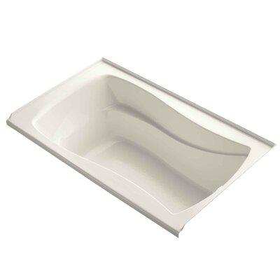 "Mariposa 60"" x 36"" Soaking Bathtub Finish: Biscuit"