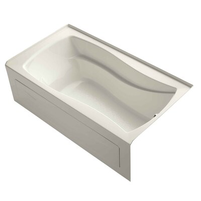 "Mariposa Alcove 66"" x 36"" Soaking Bathtub Finish: Biscuit"
