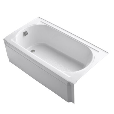 "Memoirs 60"" x 32"" Alcove Soaking Bathtub Finish: White"