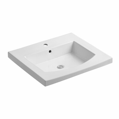 "Persuade 25"" Single Bathroom Vanity Top Finish: White"
