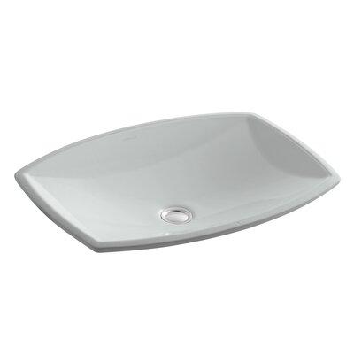 Kelston Ceramic Rectangular Undermount Bathroom Sink with Overflow Sink Finish: Ice Grey