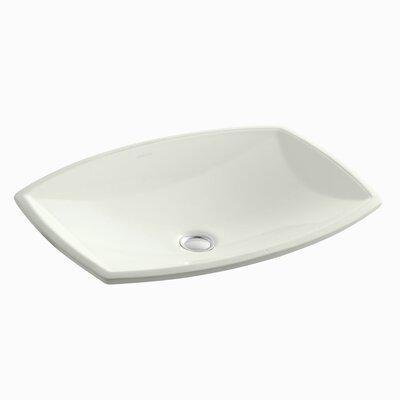 Kelston Ceramic Rectangular Undermount Bathroom Sink with Overflow Sink Finish: Dune