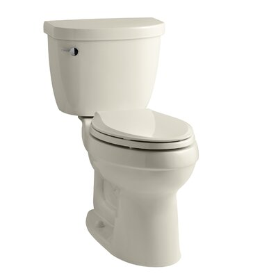 Cimarron Comfort Height Two-Piece Elongated 1.28 GPF Toilet with Aquapiston Flush Technology and Left-Hand Trip Lever Finish: Almond
