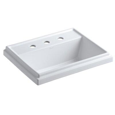 "Kohler Tresham Rectangular Drop-In Bathroom Sink with 8"" Widespread Faucet Holes"