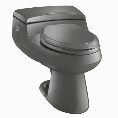 San Raphael Comfort Height One-Piece Elongated 1.0 GPF Toilet with Pressure Lite Flush Technology and Left-Hand Trip Lever Finish: Thunder Grey
