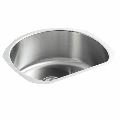 "Undertone 24-1/4"" L x 21-1/4"" W x 9-1/2"" Under-Mount Medium D-Shaped Single-Bowl Kitchen Sink"