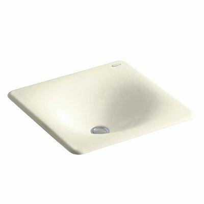 Iron Tones Metal Rectangular Drop-In Bathroom Sink Sink Finish: Cane Sugar