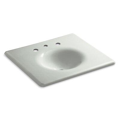 "Iron Impressions 26"" Single Bathroom Vanity Top Finish: Sea Salt, Faucet Hole Style: 8'' Widespread"