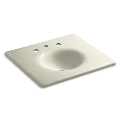 """Iron Impressions 26"""" Single Bathroom Vanity Top Finish: Cane Sugar, Faucet Hole Style: 8'' Widespread"""