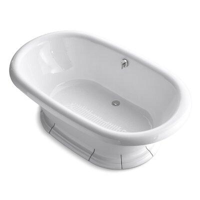 "Vintage 72"" x 42"" Soaking Bathtub Finish: White"