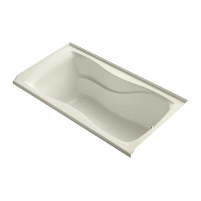 "Hourglass Alcove 60"" x 32"" Soaking Bathtub Finish: Almond"
