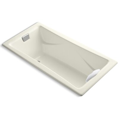 """Tea-For-Two 72"""" x 36"""" Soaking Bathtub Finish: Biscuit"""