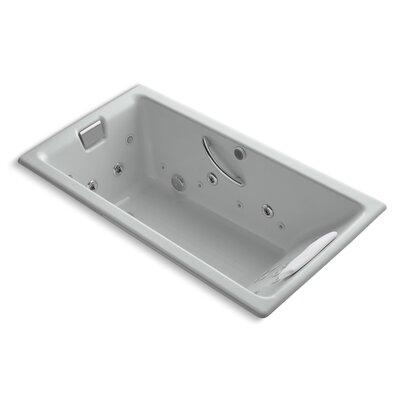"Tea-For-Two 66"" x 36"" Whirlpool Bathtub Finish: Ice Grey"
