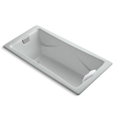 "Tea-For-Two 72"" x 36"" Soaking Bathtub Finish: Ice Grey"