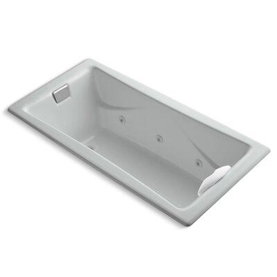 "Tea-For-Two 72"" x 36"" Whirlpool Bathtub Finish: Ice Grey"