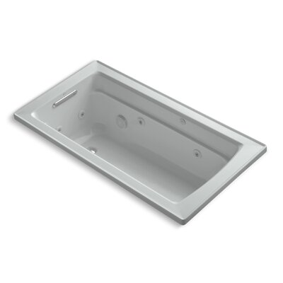 "Archer 60"" x 32"" Whirlpool Bathtub Finish: Ice Grey"