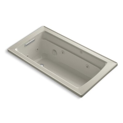 "Archer 60"" x 32"" Whirlpool Bathtub Finish: Sandbar"