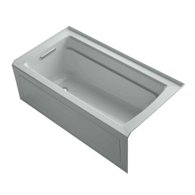 "Archer 60"" x 32"" Alcove Bathtub with Integral Apron and Left-hand Drain Finish: Ice Grey"