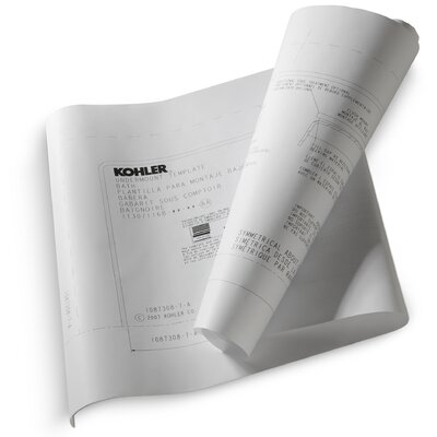 Kohler Tea-For-Two Under-Mount Installation Kit for Use with Tea-For-Two Bath and Whirlpool