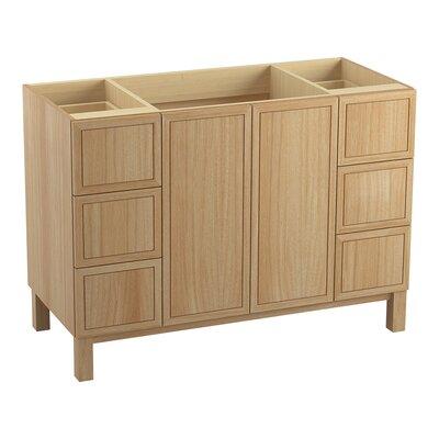"Jacquard 48"" Vanity with Furniture Legs, 2 Doors and 6 Drawers Finish: Khaki White Oak"