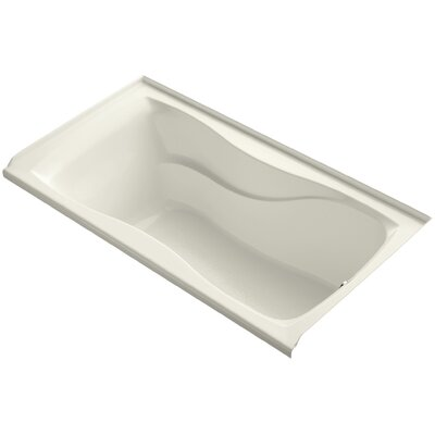 "Hourglass Alcove 60"" x 32"" Soaking Bathtub Finish: Biscuit"