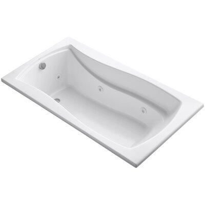 "Mariposa 66"" x 36"" Whirlpool Bathtub Finish: White"
