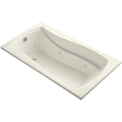 "Mariposa 66"" x 36"" Whirlpool Bathtub Finish: Biscuit"