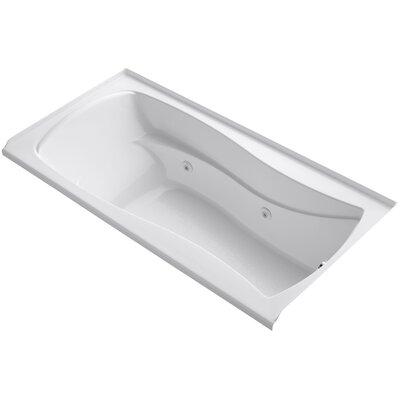 "Mariposa Alcove 72"" x 36"" Whirpool Bathtub Finish: White"