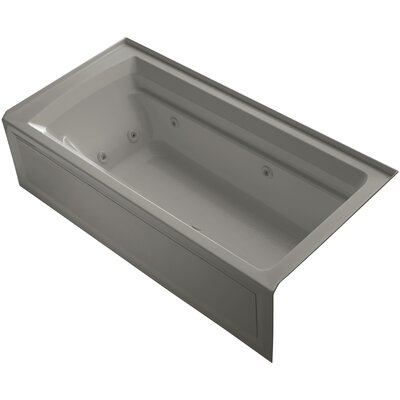 "Archer 72"" x 36"" Whirlpool Bathtub Finish: Cashmere"
