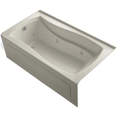"Mariposa Alcove 66"" x 36"" Whirpool Bathtub Finish: Sandbar"